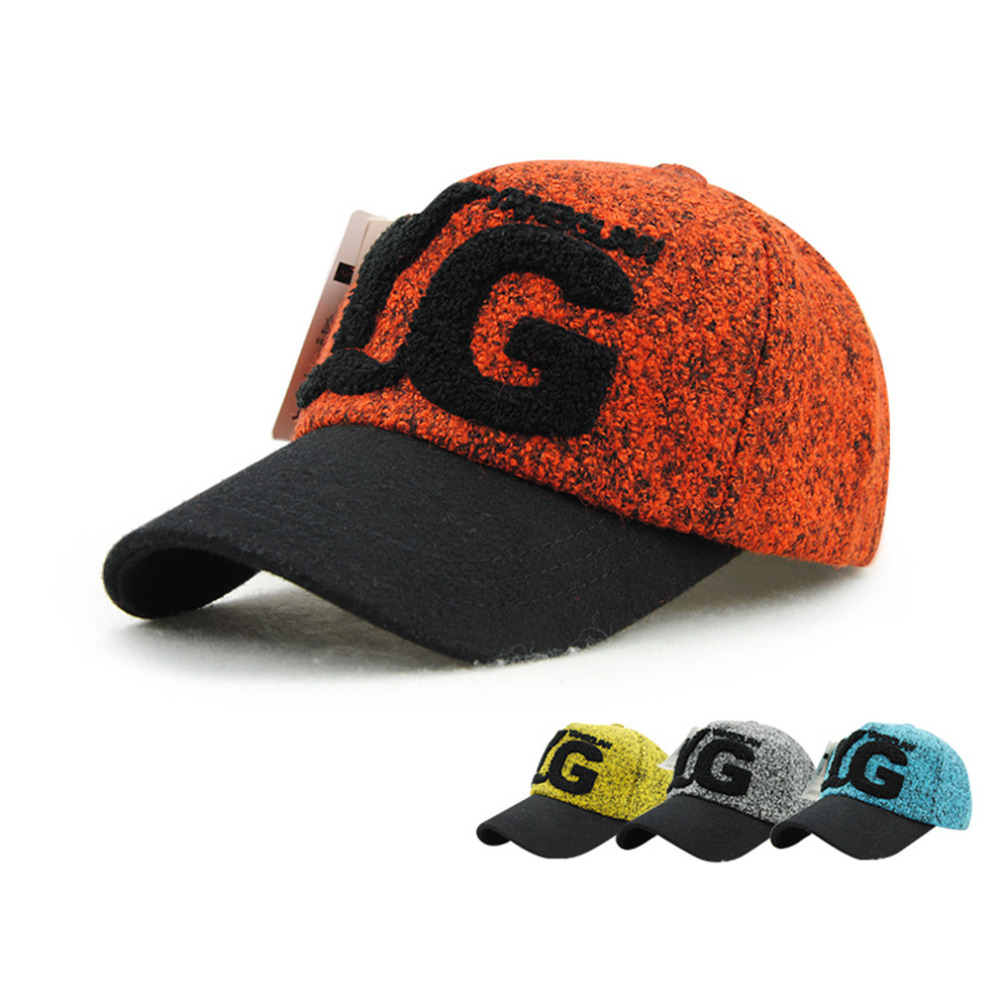 New Fashion Stylish Cool Women's Plush Letters Pattern Leisure Sports Outdoor Playing Hat Baseball Cap 9493 Hot Sale