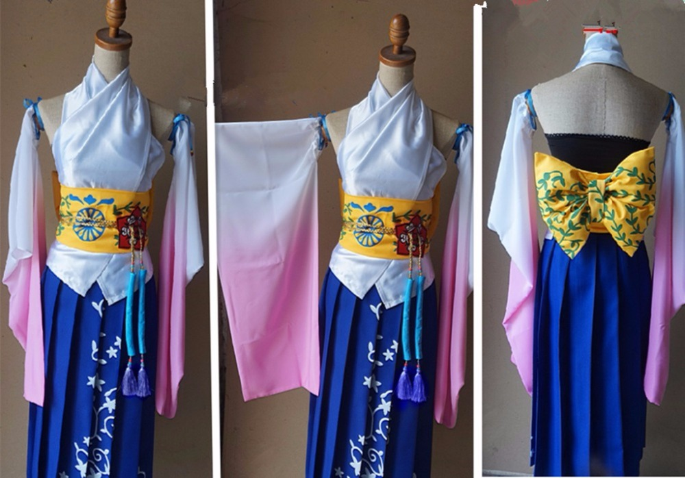 Final Fantasy X 10 Yuna Cosplay Kostüm Custom Made